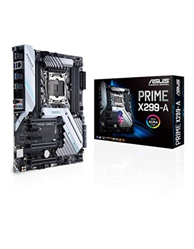 ASUS PRIME X299-A - Placa base (chipset Intel x299, LGA 2066, 8 x SATA 6 Gb/s, 3 x PCIe 3.0, ATX)