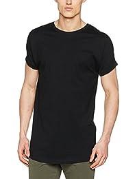Urban Classics Herren T-Shirt Long Shaped Turnup Tee