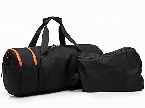 Outdoor peak Herren damen Oxford Sporttasche Trommel-tasche Tagetasche Fitness Schulter Handtasche Kuriertaschen Freizeit Reisetasche (Camouflage) Black