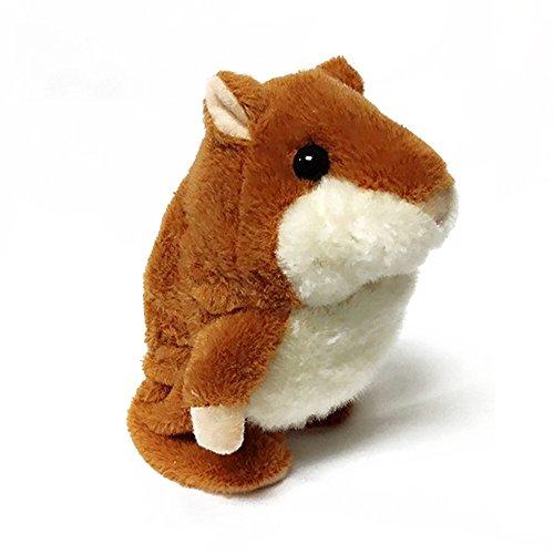 Vi.yo Talking Hamster Plüschtiere, Cute Mimicry Tier Spielzeug wiederholt was Sie sagen Elektronische Buddy Maus für Kinder -