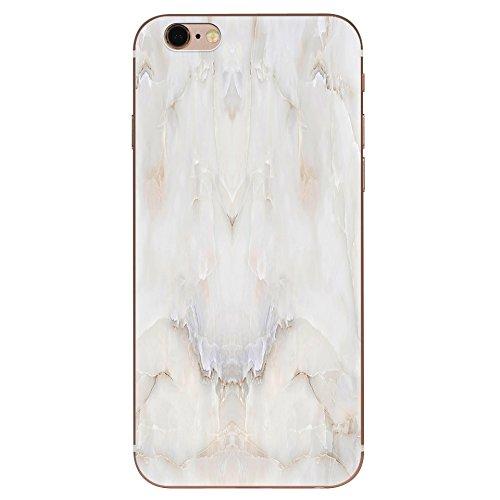 IPhone 6 plus Hülle, Schutzhülle Case Silikon- Clear Ultra Dünn Durchsichtige Backcover TPU Case für iPhone 6plus 6splus Weißer Marmor