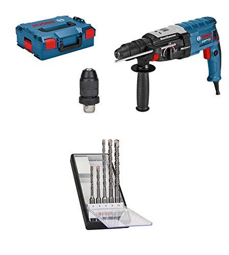 Bosch Professional Bohrhammer GBH 2-28 F (880 Watt, Bohr-Ø Beton max: 28 mm, SDS-plus, in L-BOXX) + Beton Hammerbohrer-Set 5tlg. SDS-plus