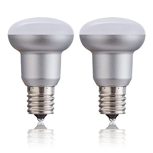 htmittel R14BR14E17Silber Style 30Watt equilvalent Edison 3W Glühlampe Boden, weichem weiß 3000K für Deckenventilator und andere Innen Dekorative Beleuchtung, Nicht dimmbar ()