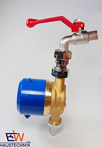 Preisvergleich Produktbild Zapfhahnzähler Wasserzähler für Garten/Garage (Schütz) Baulänge 110 mm - mit aktueller Eichung