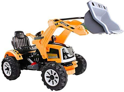 BSD Véhicule électrique pour Enfants Voiture électrique - Tracteur, Pelleteuse - Jaune