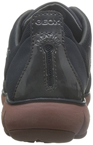 Geox Damen D Nebula G Sneakers Grau (ANTHRACITE/OLD ROSEC9AA8)