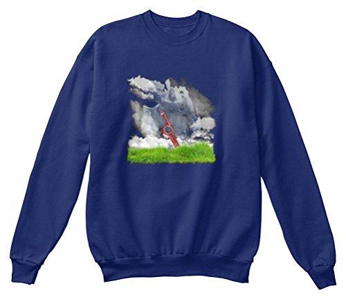 Preisvergleich Produktbild Bequemer Pullover Damen / Herren / Unisex M XENOBLADE CHRONICLES COVER Marineblau