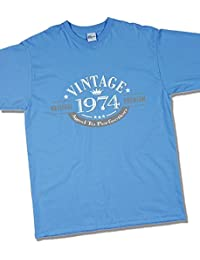 1974 Vintage Year - Aged to Perfection - 43 Ans Anniversaire T-Shirt pour Homme