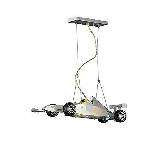 Satin-streifen-shell (HHORD Kronleuchter Beleuchtung Neuheit Auto kreative Kronleuchter Satin Nickel Lampe)
