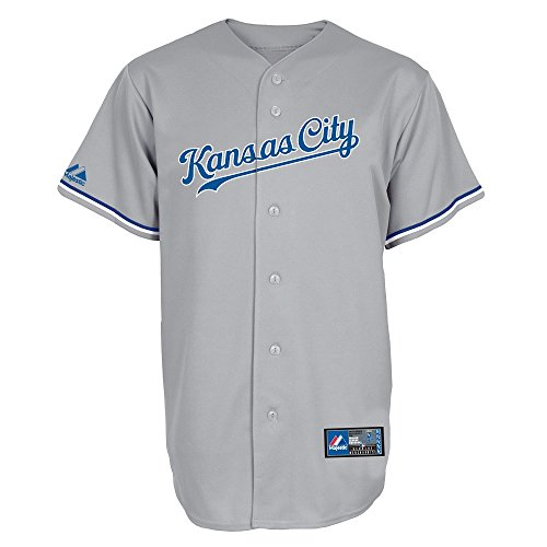 MLB Baseball Trikot/Jersey KANSAS CITY ROYALS grau in L (LARGE)