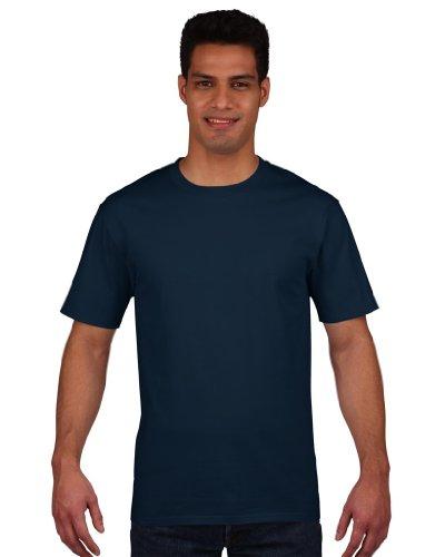 Gildan Premium T-Shirt für Männer (L) (Marineblau) L,Marineblau