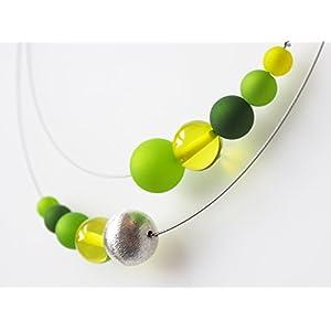 Polariskette grün silber Kette Collier