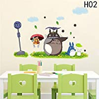 YSHUO Wall Stickers 1Pc Home Decoration Cute Cartoon Animation Vinyl Kids Room Cafe Bar Poster Totoro Wallpaper