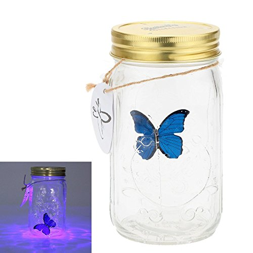 Gearmax® 1 pieza LED romántico lámparas de cristal de cristal de la