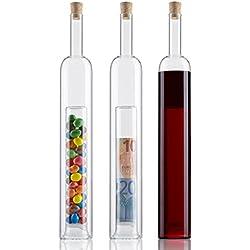 Geschenke-Flasche mit 2. Hohlraum für Hochzeitsgeschenke & Geldgeschenk zur Hochzeit & Verpackung