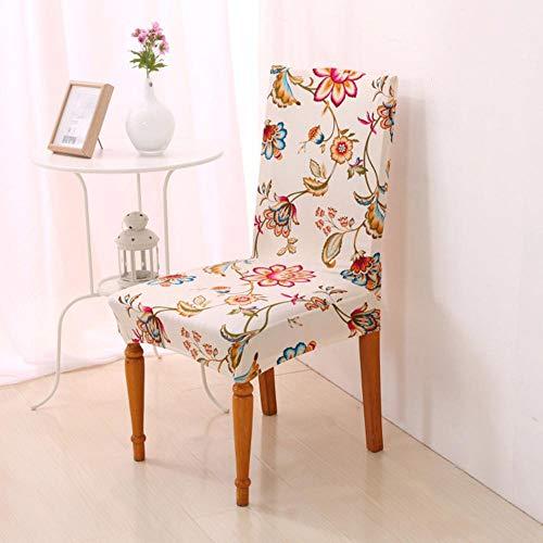 DE Home Stuhlabdeckung Spandex Stuhl Fall elastischen Blumendruck Floral rutschfeste Stuhl Sitz abnehmbare für Hotel Esszimmer A universal -