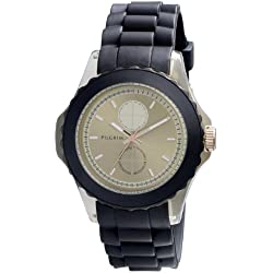 Pilgrim Women's Quartz Watch sort rem/brun skive 701334502 with Rubber Strap