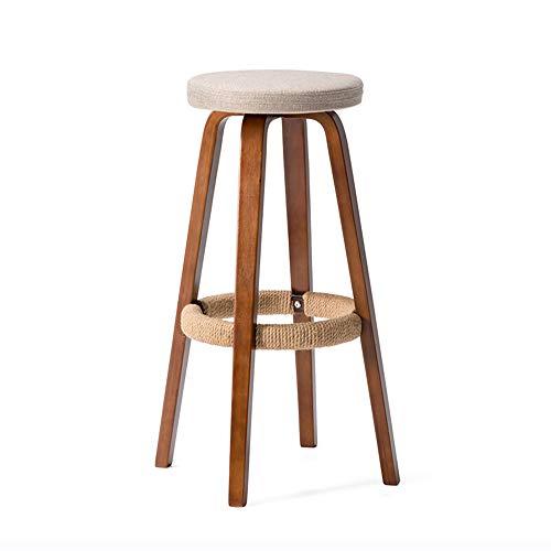 Rezeption Sitzgelegenheiten (GXM-stool Hölzerne Barhocker, Moderne minimalistische weichen Stoff gesetzt High Barstuhl, Home Bar Stuhl, geeignet für Bars, Cafés, Tresenhocker an der Rezeption,C,70.5CM)