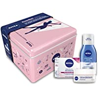 Nivea Giftpack Sensitive per Donna, Set Regalo Crema Viso Idratante Intensiva e Struccante Occhi Doppia Azione