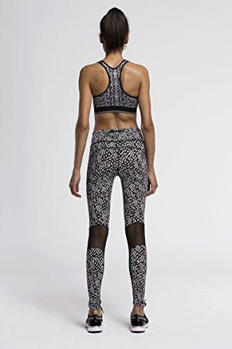 Fringoo - Legging de sport - Femme Multicolore bigarré Monochrome Mesh