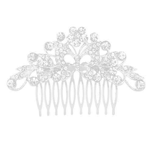 Vintage De Cristal Boda De La Mariposa Del Peine Del Pelo Piezas Tocados De Novia Para El Cabello