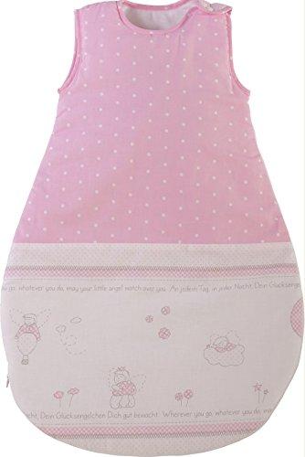 roba Schlafsack, 70cm, Babyschlafsack ganzjahres/ganzjährig, aus atmungsaktiver Baumwolle, Schlummersack unisex, Kollektion 'Glücksengel'