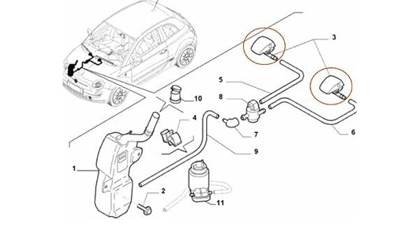 Genuine Fiat 500 Windscreen Washer Jet Amazon Co Uk Car Motorbike