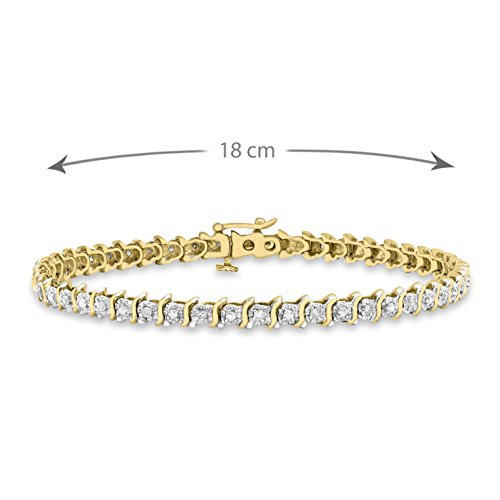 Carissima Gold - Bracelet - 9carats (375/1000) - Or Jaune - Rond - Transparent - Diamant - Femme - 18 Cm Doré