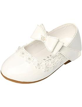 Lopetve Niñas Bowknot Plana Princesa del Bautizo Nupcial Fiesta Antideslizante Zapatos Escolares Mary Jane Tamaño