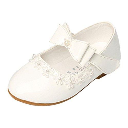 Lopetve Mädchen Prinzessin Schuhe Kostüm Ballerina Ballerina Shuhe Festliche Mädchenschuhe Taufschuhe Schuhe Weiß 30