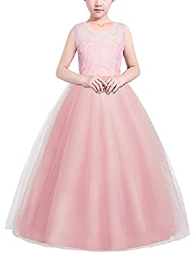 HUAANIUE Mädchen Kinder Kleid La