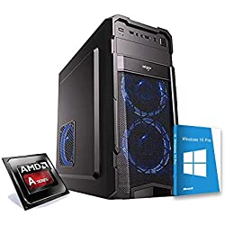 PC DESKTOP UFFICIO CASA CPU 3,70 GHz TURBO/SCHEDA VIDEO RADEON/RAM 8GB DDR3 / WINDOWS 10 PRO/HARD DISK 1000GB 1TB HDD/PC ASSEMBLATO PC FISSO DA UFFICIO CASA COMPLETO HD PRONTO USB 3.0