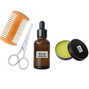 ADIASEN 30ml Bartöl, 30g Bartcreme und Schere Zubehör Sets Reise für Männer