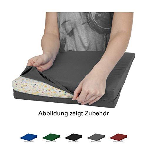 Sport-Tec Bezug aus Baumwolle für Sitzkissen Orthopädisch Sitzkeil Keilkissen, 38x38 cm -