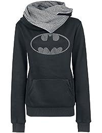 Batman Logo Sweat capuche Femme noir/gris