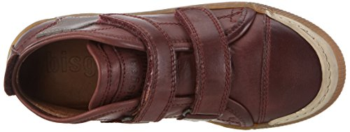 Bisgaard Mädchen Shoe with Velcro 40704216 High-Top Rot (800 Plume_301 Brown)