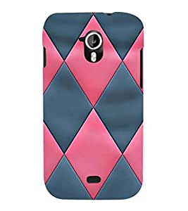 EPICCASE diamond in pink and blue Mobile Back Case Cover For Micromax Canvas 2 A110 (Designer Case)
