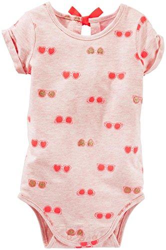OshKosh B'Gosh Body unter Latzhose Baby Spieler Sommer Bluse Shirt für Mädchen (0-24 Monate) (24 Monate, rosa) -