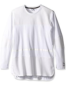 Camiseta de manga larga Evo Bball para hombre, Puma blanca, grande