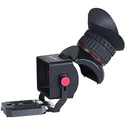 Viseur Optique Movo Photo VF40 Universal 3X LCD Video avec œilleton basculant, pour appareils DSLR Canon EOS, Nikon, Sony Alpha, Olympus et Pentax - Convient aux écrans de 3po à 3.2po