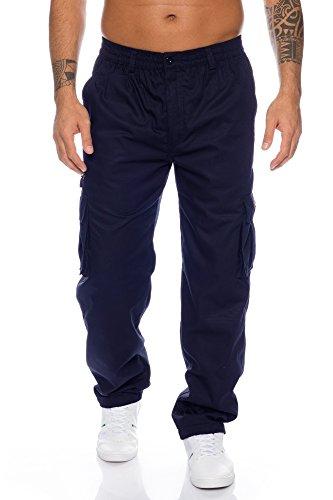 Fashion Herren Thermohose mit Dehnbund - mehrere Farben ID553, Größe:L;Farbe:Dunkelblau