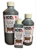 Carbusonic Leather colour restorer for faded, worn scuffed leather Interiors and sofas 1 Litre (Dark brown)