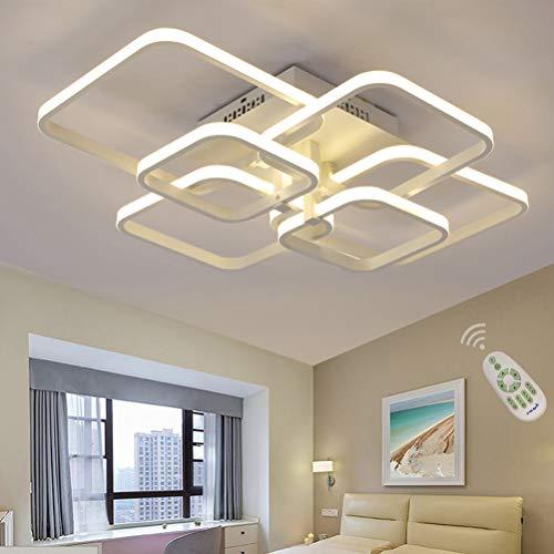 Eckig LED Deckenleuchte/Deckenlampe Esszimmer Esstisch Wohnzimmer Lampe Dimmbar Fernbedienung, Verstellbare Farbigkeit/Helligkeit 3000K-6500K Modern Wohn Schlafzimmer Badleuchte Flur Designer-Lampen -