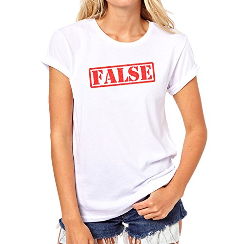 False Stamp Red Very Important In Life Damen T-Shirt Weiß