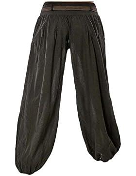 Mujer Pantalones Largos Harem Pantalón Baggy Yoga Holgados Flojos Suave Casual Pantalones Negro XL