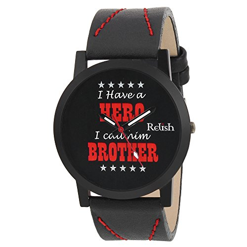 RELISH RE-S8078BB Black Slim Analog Watch For Boys And Mens