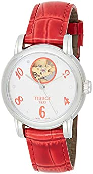 Tissot Womens Automatic Watch, Analog Display and Leather Strap T050.207.16.1947.43