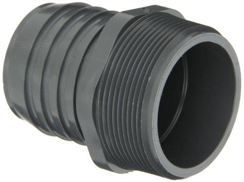 Spears PVC Tube Fassung, Adapter, Schedule 40, Grau, Stacheldraht X NPT Stecker, 3/4