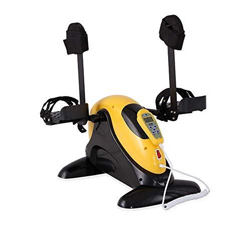 OKSS Mini Kompakt Pedal Übungsgerät für Arme und Beine Rehabilitationsausrüstung Tragbares Heimtrainer Einstellbarer Widerstand mit Digitalanzeige
