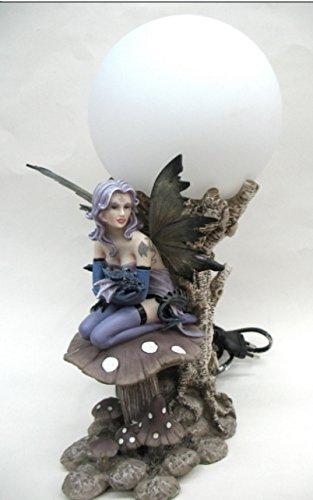Lámpara Luminaire hada y dragón (Modele e)–Lámpara en globo–Figura decorativa figura hada y dragón